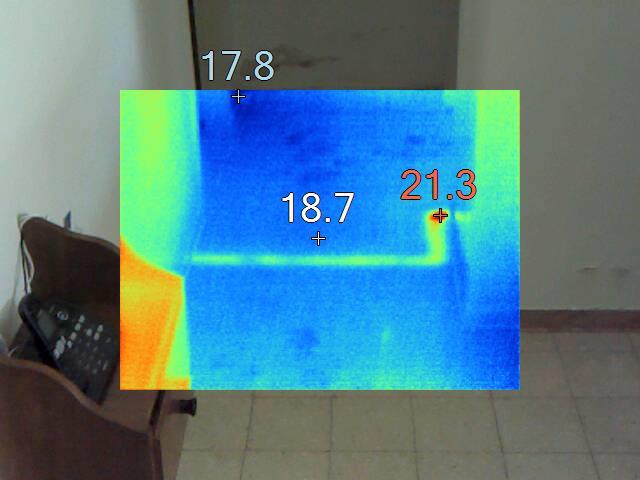 דוגמא לאיך נראה צינור ברצפת הבית